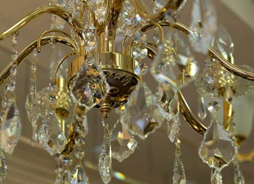 Crystal Chandeliers available in traditional and modern styles.
